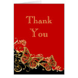 Red black gold wedding engagement greeting cards