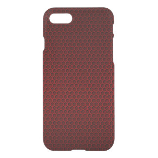 Red & Black Graphite Honeycomb Carbon Fibre iPhone 7 Case