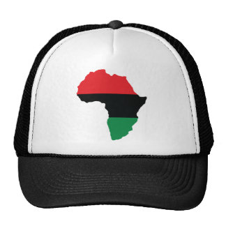 Red, Black & Green Africa Flag Mesh Hats