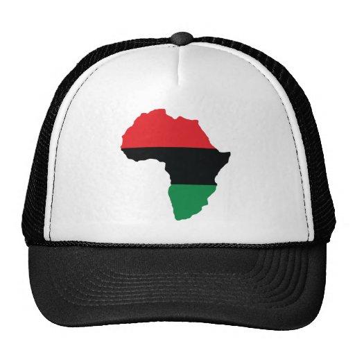 Red, Black & Green Africa Flag Mesh Hats