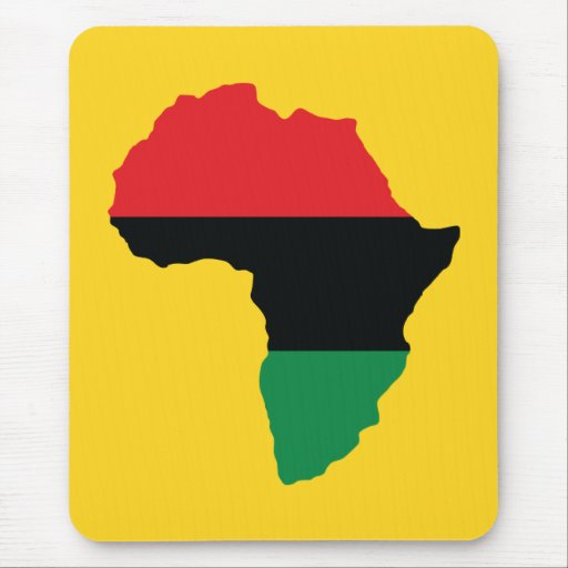 Red, Black & Green Africa Flag Mousepad