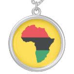 Red, Black & Green Africa Flag Pendant