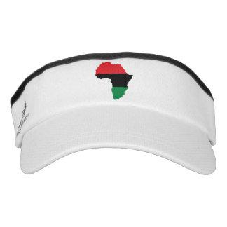 Red, Black & Green Africa Flag Visor