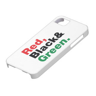 Red Black Green iPhone 5 Cover