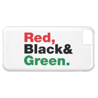 Red Black Green Case For iPhone 5C