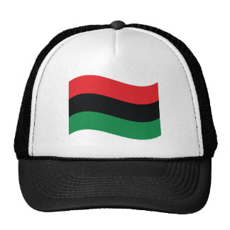 Red, Black & Green Flag Mesh Hat