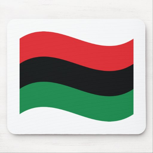 Red, Black & Green Flag Mouse Pad