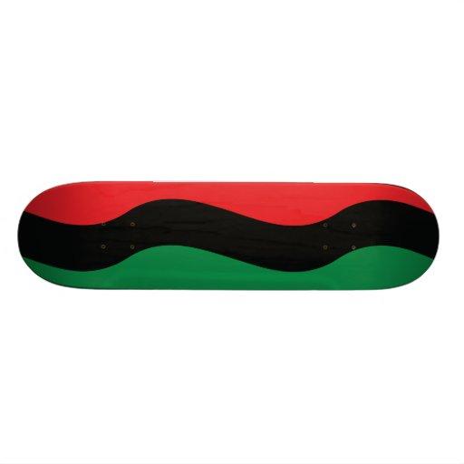 Red, Black & Green Flag Skate Board Deck