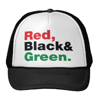 Red, Black & Green. Hat