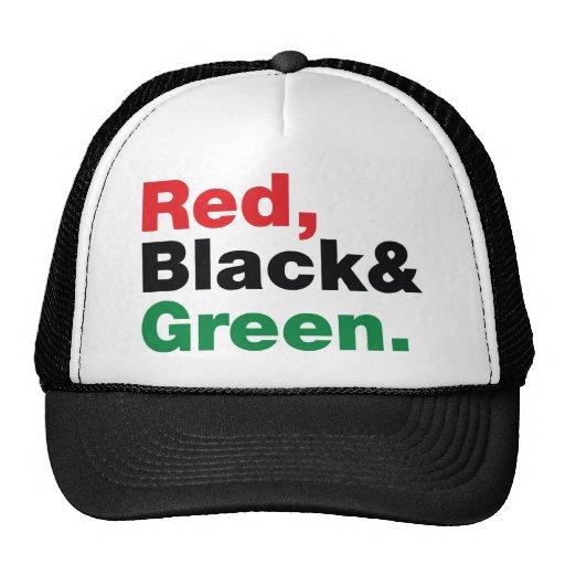 Red, Black & Green. Hat