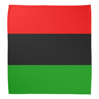 Red, Black, Green Pan African Flag Bandannas