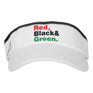 Red, Black & Green. Visor