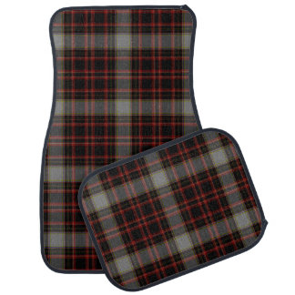 Red Black Grey Yellow Large Tartan Plaid Car Mat