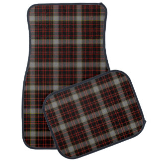 Red Black Grey Yellow Tartan Plaid Car Mat
