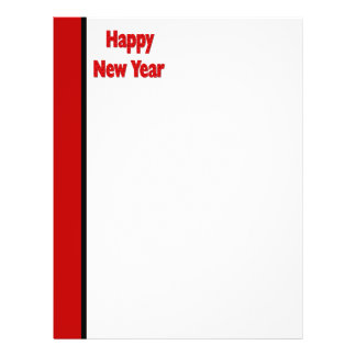 Red Black Happy New Year 21.5 Cm X 28 Cm Flyer