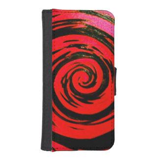 Red & Black Hypnotic Swirl Art