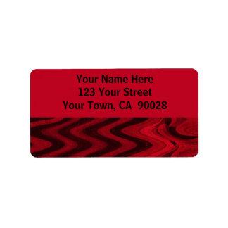red black address label
