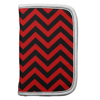 Red Black Large Chevron ZigZag Pattern Planners