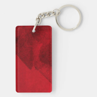 Red black love abstract modern painting design art Double-Sided rectangular acrylic key ring