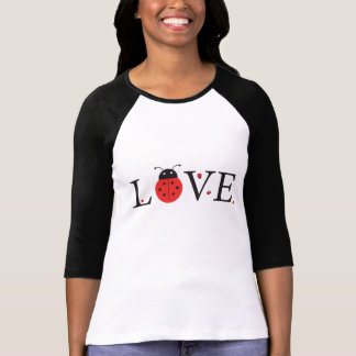 Red & Black 'Love' Ladybugs Baseball Jersey