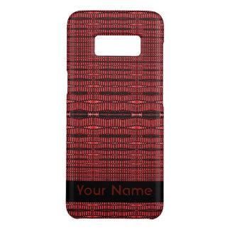 Red Black Modern Pattern Case-Mate Samsung Galaxy S8 Case