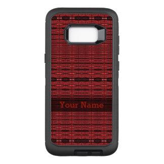 Red Black Modern Pattern OtterBox Defender Samsung Galaxy S8+ Case