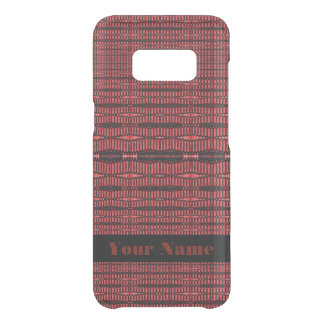Red Black Modern Pattern Uncommon Samsung Galaxy S8 Case