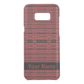 Red Black Modern Pattern Uncommon Samsung Galaxy S8 Plus Case