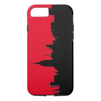 Red Black New York City Skyline Silhouette iPhone 7 Case