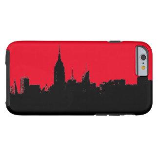 Red Black New York City Skyline Silhouette Tough iPhone 6 Case