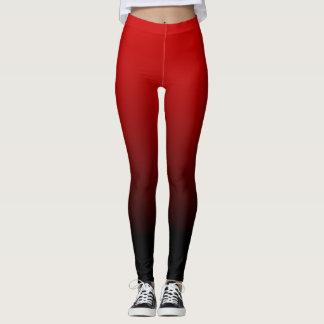 Red Black Ombre Leggings