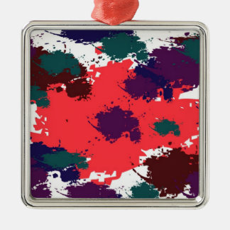 Red black paint premium ornament
