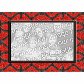 red black photo frame standing photo sculpture