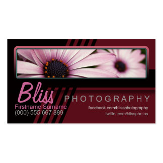 Red Black Photography w/ Photo template Business Card Templates