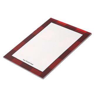 Red & Black Plaid Personalised Notepad