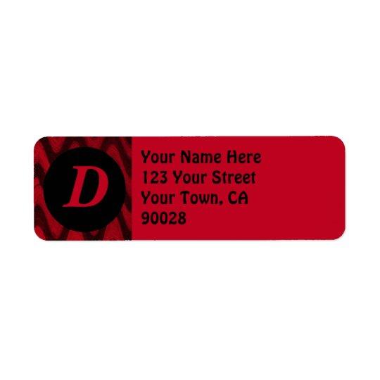 red black return address label