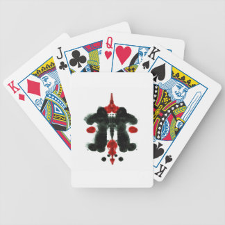 Red & Black Rorschach Art 7/20/14 Bicycle Playing Cards