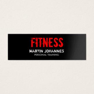 Red Black Slim Fitness Trainer Mini Business Card