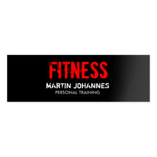 Red Black Slim Fitness Trainer Pack Of Skinny Business Cards