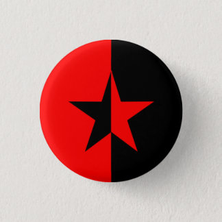 Red/Black Star 3 Cm Round Badge