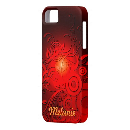Red Black Swirls iPhone 5 Cases