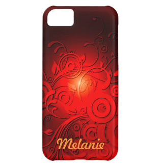 Red Black Swirls iPhone 5C Case
