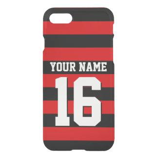 Red Black Team Jersey Preppy Stripe iPhone 7 Case