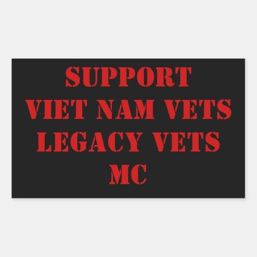 Red & Black Viet Nam/Legacy Vets MC Sicker Rectangular Sticker