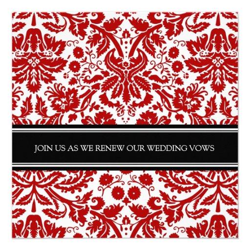 Red Black Wedding Vow Renewal Invitation