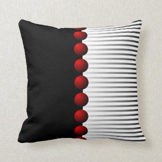Red Black White and Gray Abstract Cushion