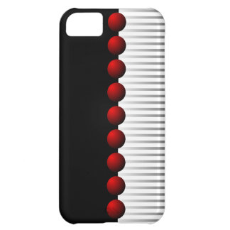 Red Black White and Gray Abstract iPhone 5C Case