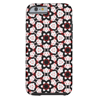 Red Black White Geometric Tough iPhone 6 Case
