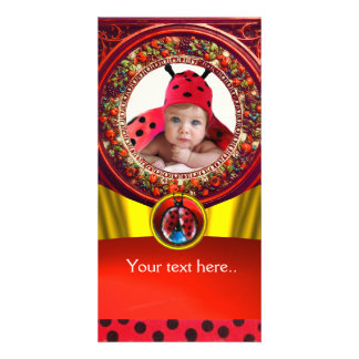 RED BLACK WHITE LADYBUG BABY SHOWER PHOTO TEMPLATE PHOTO CARD TEMPLATE
