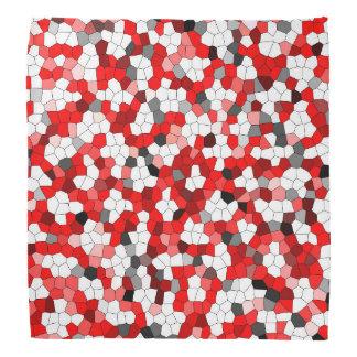 Red Black White Modern Trendy Pattern Bandana